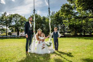 Bride-Groom-swing-garden