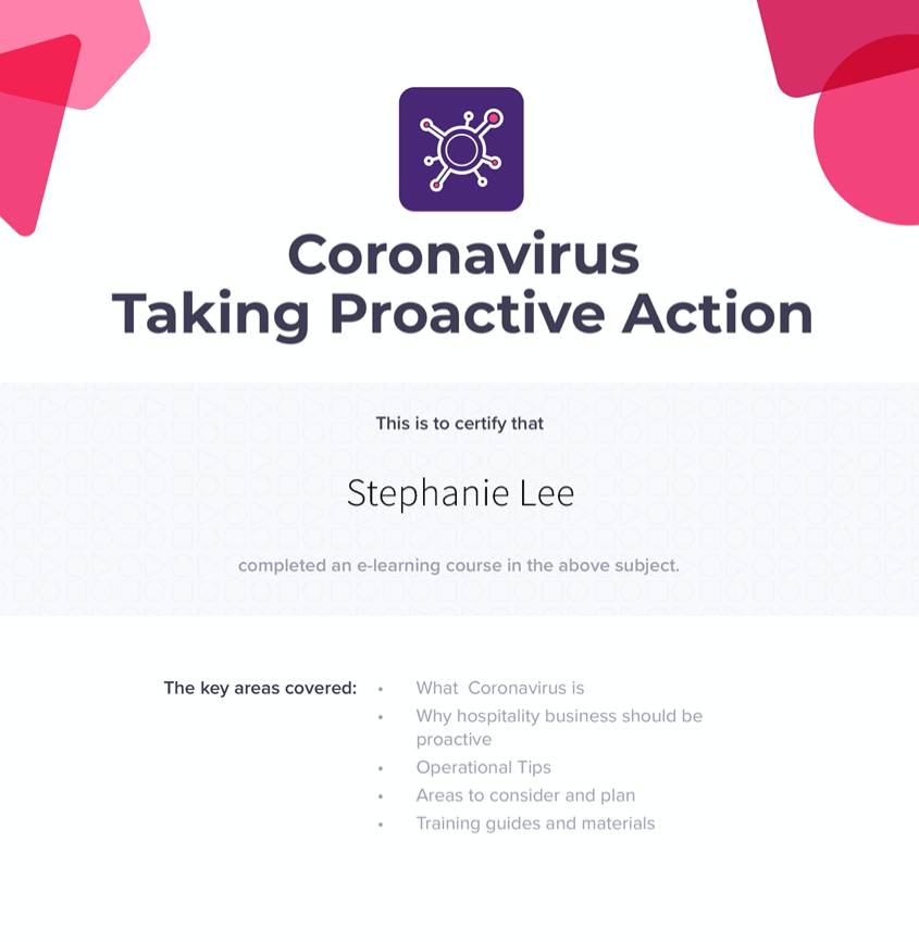 Proactive Action Against Coronavirus
