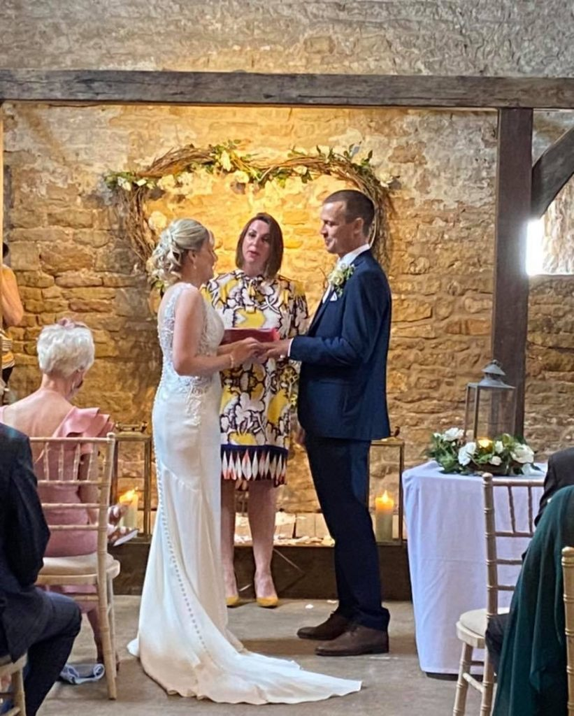 Congratulations Mr & Mrs Holmes