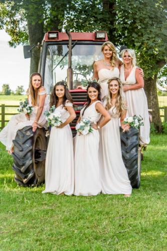 Bridesmaids-tractor